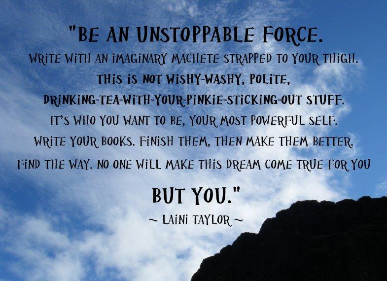 20130114 Laini Taylor writing advice