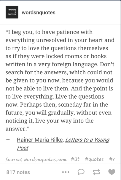 have patience rilke quote