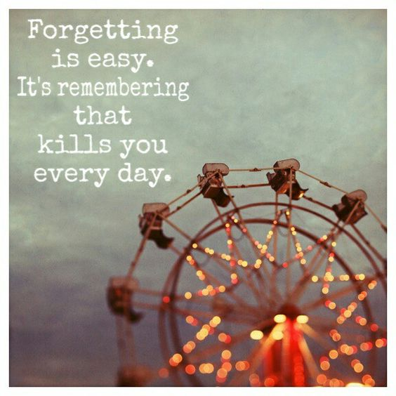 remembering kills you