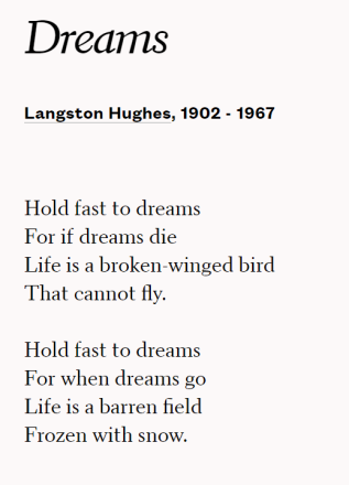Dreams - Poem by Langston Hughes