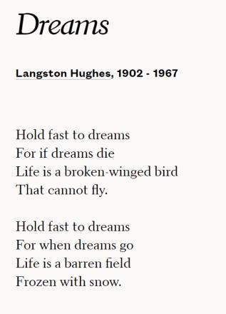 Dreams - Poem by Langston Hughes